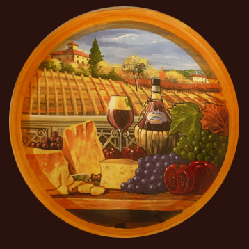 Tuscany Scenic plate
